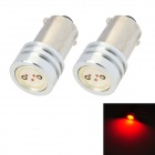 BA9S 1.5W 50lm 1-SMD LED Red Light Car Reading Lamp / Steering Lamp (2 PCS / 12V)