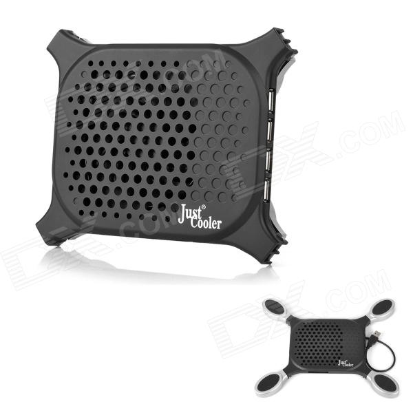 Octopus Style Foldable USB Plastic Cooling Pad for Laptop Notebook - Black