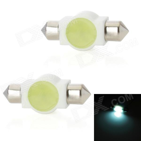 Festoon 36mm 3W 100lm 1-LED White Light Car Dome Lamp (2 PCS / 12V) cawanerl 2 x car led fog light drl daytime running lamp 12v white for toyota prius hatchback zvw3 1 8 hybrid 2009 onwards