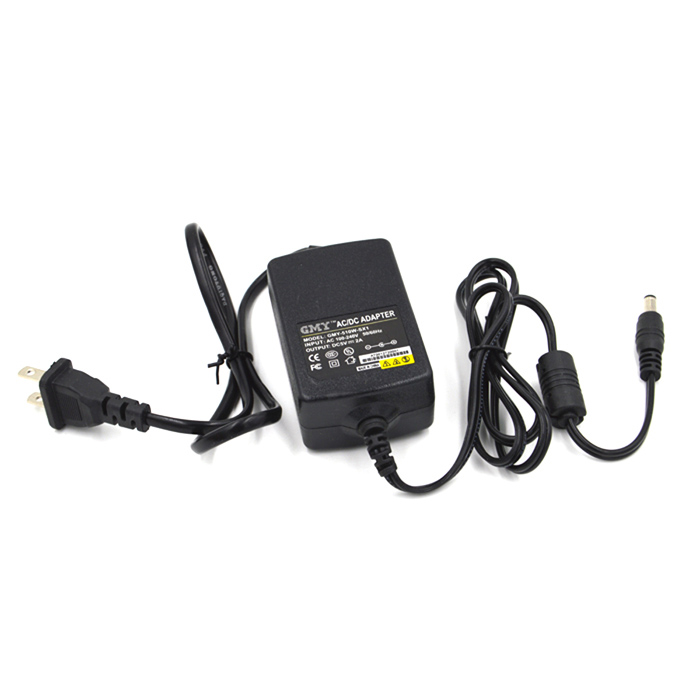 5V 2A Power Adapter Charger for Security Camera / Scanner - Black (5.5 x 2.1mm / 2-Flat-Pin Plug)