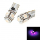 T10 0.9W 55lm 5-SMD 5050 LED Purple Light Car Clearance Lamp (2 PCS)