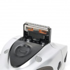 DEARLIN RSCW-400 Rechargeable Electric Tri-Blade-Head Reciprocating Shaver Razor - Silver + Black