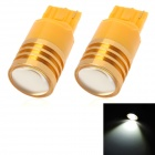 High Power T20 3W 180lm LED White Light Car Backup / Reversing Lamp - Yellow (2 PCS / 12V)
