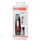 POVOS PR209 Electric Nose Hair Trimmer Clipper - Red + Black + Silver (1 x AA)