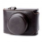 Protective PU Leather Camera Case Bag w/ Shoulder Strap for Panasonic Lumix GF3 / GF5 - Brown