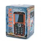 "ZERO LM-120 Ultra-Rugged Waterproof GSM Cellphone w/ 1.8"" Screen, Dual-Band and Torch - Black"