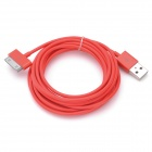 IMOS USB Charging Data Transmission Cable for iPhone / iPad + More - Red