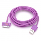 IMOS USB Charging Data Transmission Cable for iPhone / iPad + More - Purple