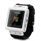 "W838 GSM Watch Phone w/ 1.5"" Resistive Screen, Quad-Band, Micro SIM and FM - Silver"