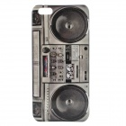 Radio Pattern Protective PC Back Cover Case w/ Front Screen Shield for Iphone 5 - Grey