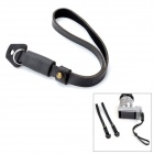 Retro Style Cow Leather Hand Strap for Camera - Black