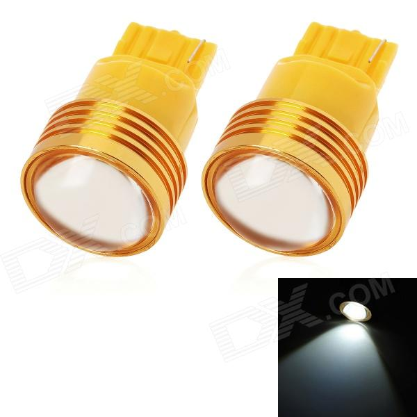 T20 1.5W 80lm LED White Light Car Backup / luz de marcha atrás - Amarillo (2 PCS / 12V)