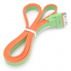 USB Charging Data Transmission Flat Cable for iPhone 4 / iPhone 4S / iPad - Green + Orange + White