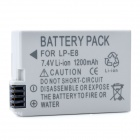 Ruibo LP-E8 Replacement 7.4V 1200mAh Li-ion Battery for Canon 550D / 600D - Grey