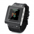 "W838 GSM Watch Phone w/ 1.5"" Resistive Screen, Quad-Band, Micro SIM and FM - Black"