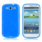 Protective Matte Plastic Back Case for Samsung Galaxy S3 i9300 - Blue