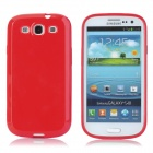 Protective Matte Plastic Back Case for Samsung Galaxy S3 i9300 - Red
