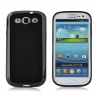 Protective Matte Plastic Back Case for Samsung Galaxy S3 i9300 - Black