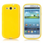 Protective Matte Plastic Back Case for Samsung Galaxy S3 i9300 - Yellow