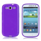 Protective Matte Plastic Back Case for Samsung Galaxy S3 i9300 - Purple