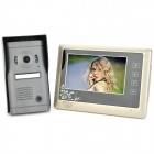 "SY809MF11 Wired 7"" TFT LCD Color Video Door Phone w/ Touch Pad / 6-LED IR Night Vision - Champagne"
