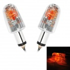 1W 8lm Motorcycle Halogen Warm White Light Steering Lamp - Silver (2 PCS / 12V)
