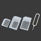 4-in-1 SIM Card Adapters Set for iPhone 5 - White