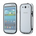 Protective ABS + Silicone Bumper Frame Case for Samsung i9300 Galaxy S3 - Black + Transparent
