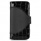 Stylish Protective Flip-Open PU Leather Case for iPhone 5 - Black