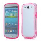 Protective ABS + Silicone Bumper Frame Case for Samsung i9300 Galaxy S3 - Pink + Transparent