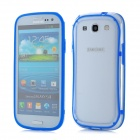 Protective ABS + Silicone Bumper Frame Case for Samsung i9300 Galaxy S3 - Blue + Transparent