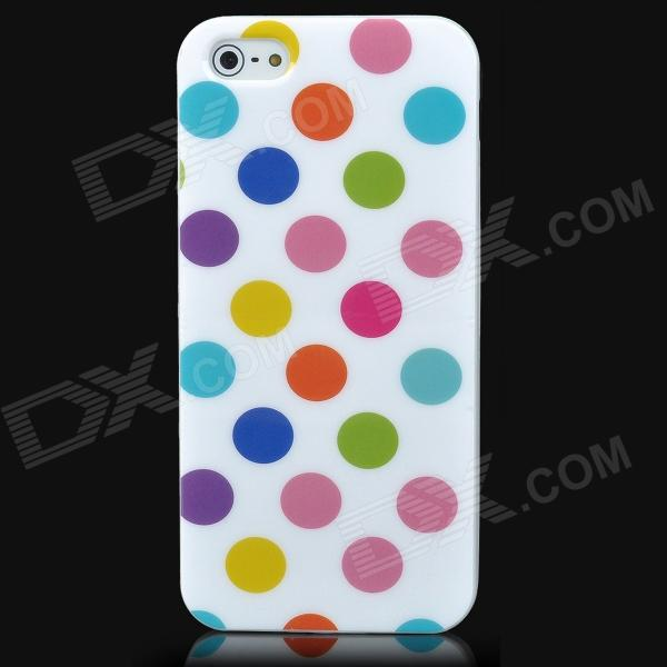 Dot Pattern Protective TPU Back Case for Iphone 5 - Colorful durable soft tpu and pu material flower pattern phone protective back case for iphone 6 plus 5 5 inch