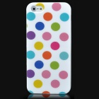 Dot Pattern Protective TPU Back Case for Iphone 5 - Colorful