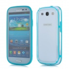 Protective ABS + Silicone Bumper Frame Case for Samsung i9300 Galaxy S3 - Light Blue + Transparent