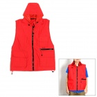 Fashionable Terylene Photography Vest - Red (Size XXL)