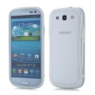 Protective ABS + Silicone Bumper Frame Case for Samsung i9300 Galaxy S3 - White + Transparent