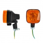 1W 8lm Halogen Warm White Light Motorcycle Steering Lamp - Orange + Black (2 PCS / 12V)