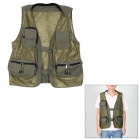 Fashionable Terylene Photography Vest - Army Green (Size XXL)