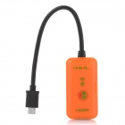 Micro USB MHL to HDMI Adapter Cable - Orange + Black