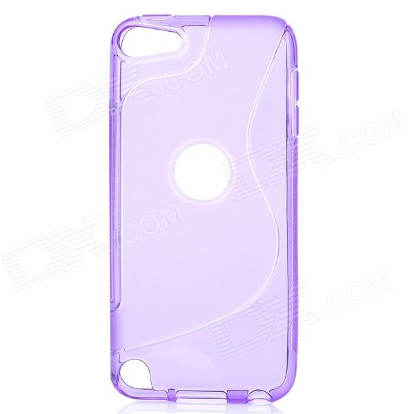 protective soft silicone back case for ipod touch 5 orange Stylish Protective TPU Back Case for Ipod Touch 5 - Purple