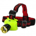 NEW-568 250lm 3-Mode Neutral White Zooming Headlamp - Fluorescent Yellow (3 x AAA)