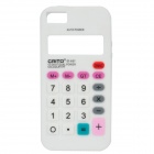 3D Calculator Style Protective Silicone Back Case for Iphone 5 - White