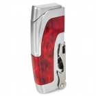 Multifunction Stainless Steel Windproof Butane Gas Lighter / Opener - Silver + Red