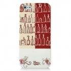 Wine Bottle Pattern Protective TPU Case for iPhone 5 - Beige + Wine Red