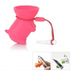 Multi-Function Cute Dog Style Stand Holder for Iphone 4 / 4S + More - Deep Pink