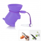 Multi-Function Cute Dog Style Stand Holder for iPhone 4 / 4S + More - Purple