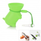 Multi-Function Cute Dog Style Stand Holder for Iphone 4 / 4S + More - Green