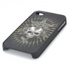 Cool 3D Skeleton Pattern Protective Plastic Case for Iphone 4 / 4S - Black