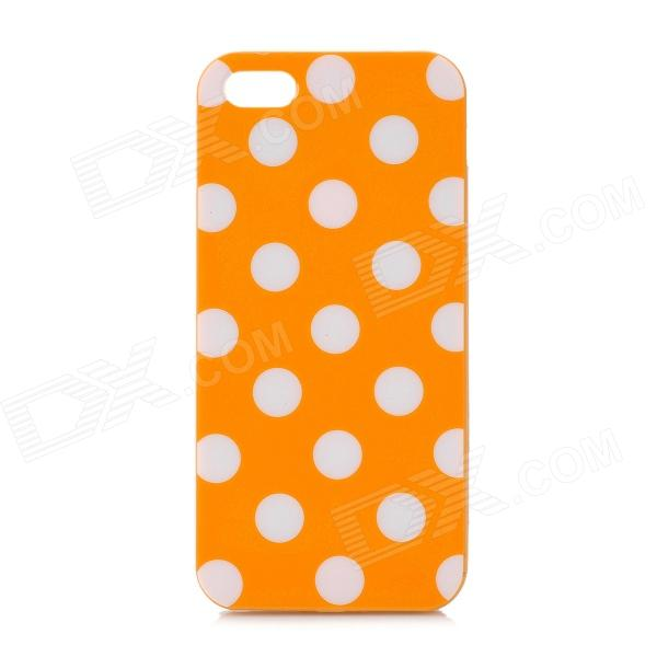 Dot Pattern Protective TPU Back Case for Iphone 5 - Orange + White