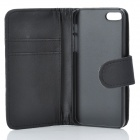 Protective Flip-Open PU Leather Case for Iphone 5 - Black